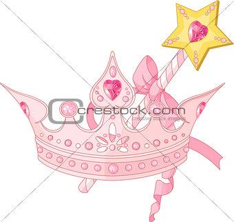 Princess crown and magic wand