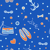 seamless marine fashion pattern
