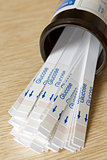 Bottle of Indicator Strips For Blood Glucose Testing