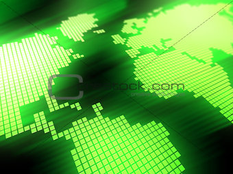 green map background