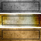Grunge metal plates