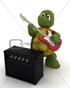 tortoise playing the guitar