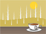 Coffee and background illustration