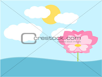 Flower background illustration