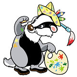cartoon badger artist