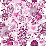 Valentine repeating pink pattern