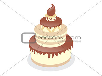 abstract birthday cake background