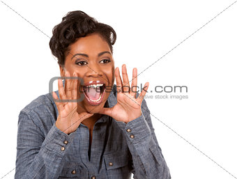black woman screaming