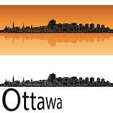 Ottawa skyline in orange background