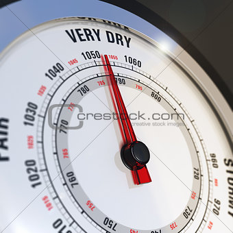 Barometer Dial Set to Very Dry, Weather Forecast