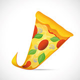 Pizza slice cartoon