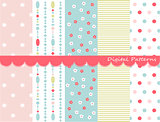 Digital patterns scrapbook set