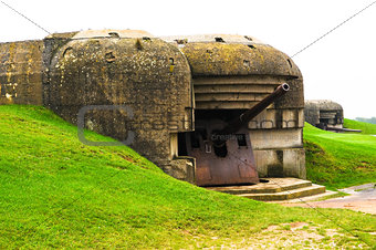 Old german bunker in Normandy, France