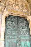 The front door of Basilica Sacre Coeur, Paris