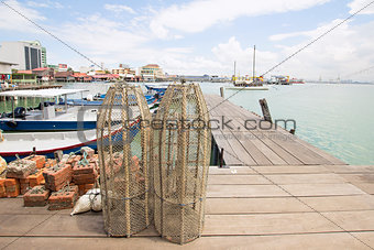 Fish Trap on Jetty in Penang