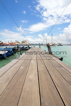 Boat Dock on Jetty in Penang
