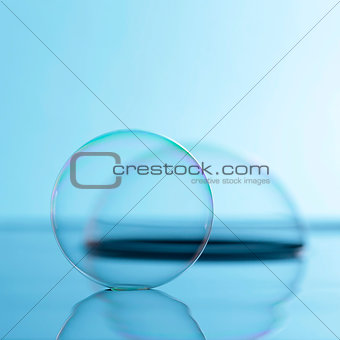 Soap bubble on the water