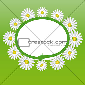 Label with the daisies