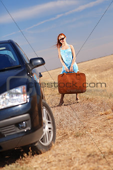 girl near the car
