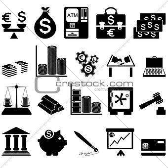 Financial icon set