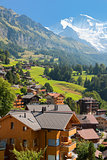 Wengen and mountains