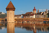 Chapel Bridge and Water Tower in Luzern