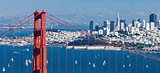 San Francisco Panorama w the Golden Gate bridge