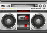 Eighties Boombox Vector