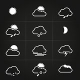 Modern Clean Weather Symbols