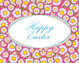 Happy Easter Floral Card Template