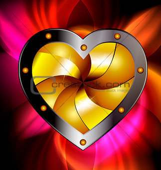 red-golden heart