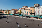 Piazza Bra in Verona Viewed from Ancient Roman Amphitheater, Ven