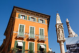 Devotional Column on Piazza Bra in Verona, Veneto, Italy