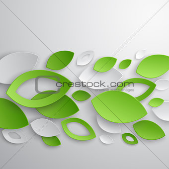 Green leaves abstract background.
