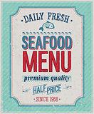 Vintage SeaFood Poster.