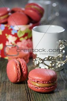 Tea with almond pastries.
