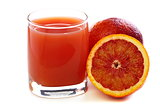 Blood orange and juice.