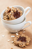 Oat flakes cookies