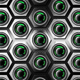 Metal Background with Hexagons and Woofers