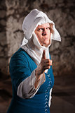 Angry Nun Pointing Finger
