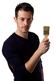 Man holding a paint brush