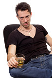 Man with glass of cognac
