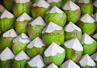 Coconuts with juice