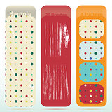 Vintage polka dot texture set and old look sratch