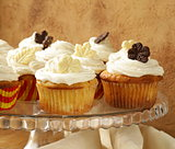 cupcakes  with cream and chocolate decorations