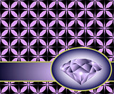 Seamless background with purple diamond