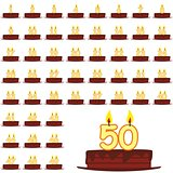 birthday cakes with number candles