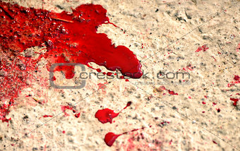 Blood splashes
