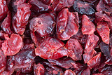 Dried cranberries background