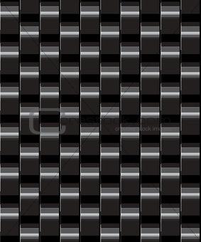black seamless geometric background